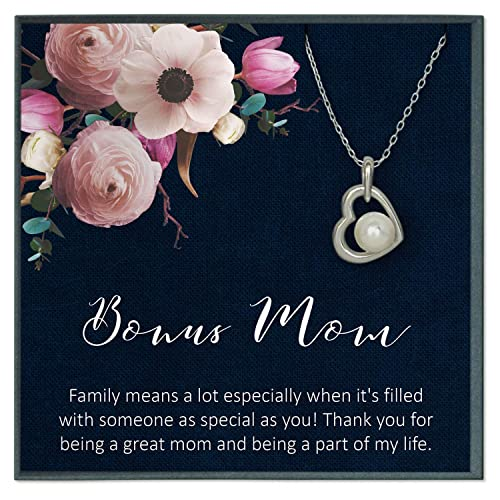 Amazon.com: Grace of Pearl Stepmom Quotes Jewelry Stepmother ...