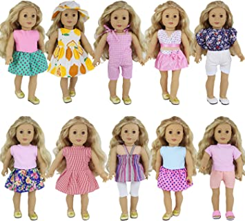 ZITA ELEMENT 10 Set di Vestiti per American Girl Doll Oufits di