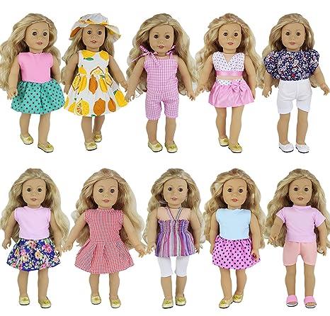 Oufits di Moda Fatti a Mano Abiti da Giorno / da Festa Accessori Adatti a Bambole da 16-18 Pollici ZITA ELEMENT 5 Set di Vestiti per American Girl Doll
