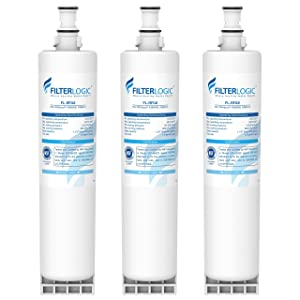 FilterLogic 4396508 Refrigerator Water Filter, Replacement for Filter 5, 4396510, NLC240V, 4396508P, 4392857, WF-4396508, Kenmore 46-9010, 9010 (Pack of 3)