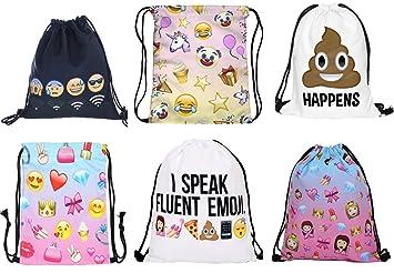 Emoji Unicorn Pikachu Pokemon Bulk Drawstring Bag Backpack Party Bag Filler  Gift Movie Gym PE School 3bb59c169ba87