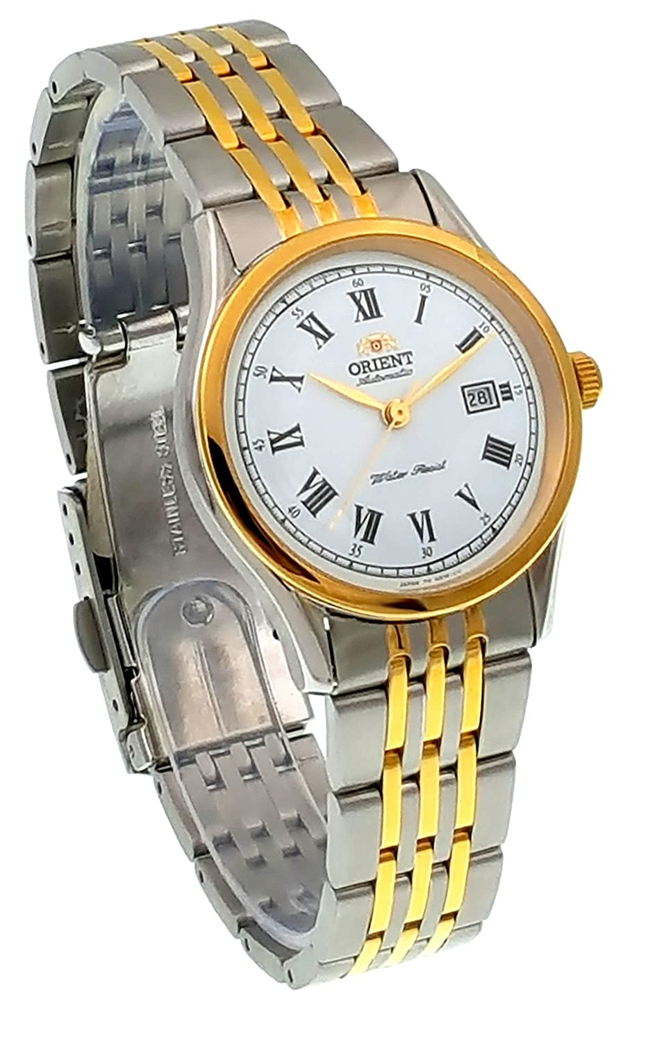 Amazon.com: ORIENT Classic Automatic Two Tone Gold Ladies Roman Traditional Watch NR1K002W: Watches
