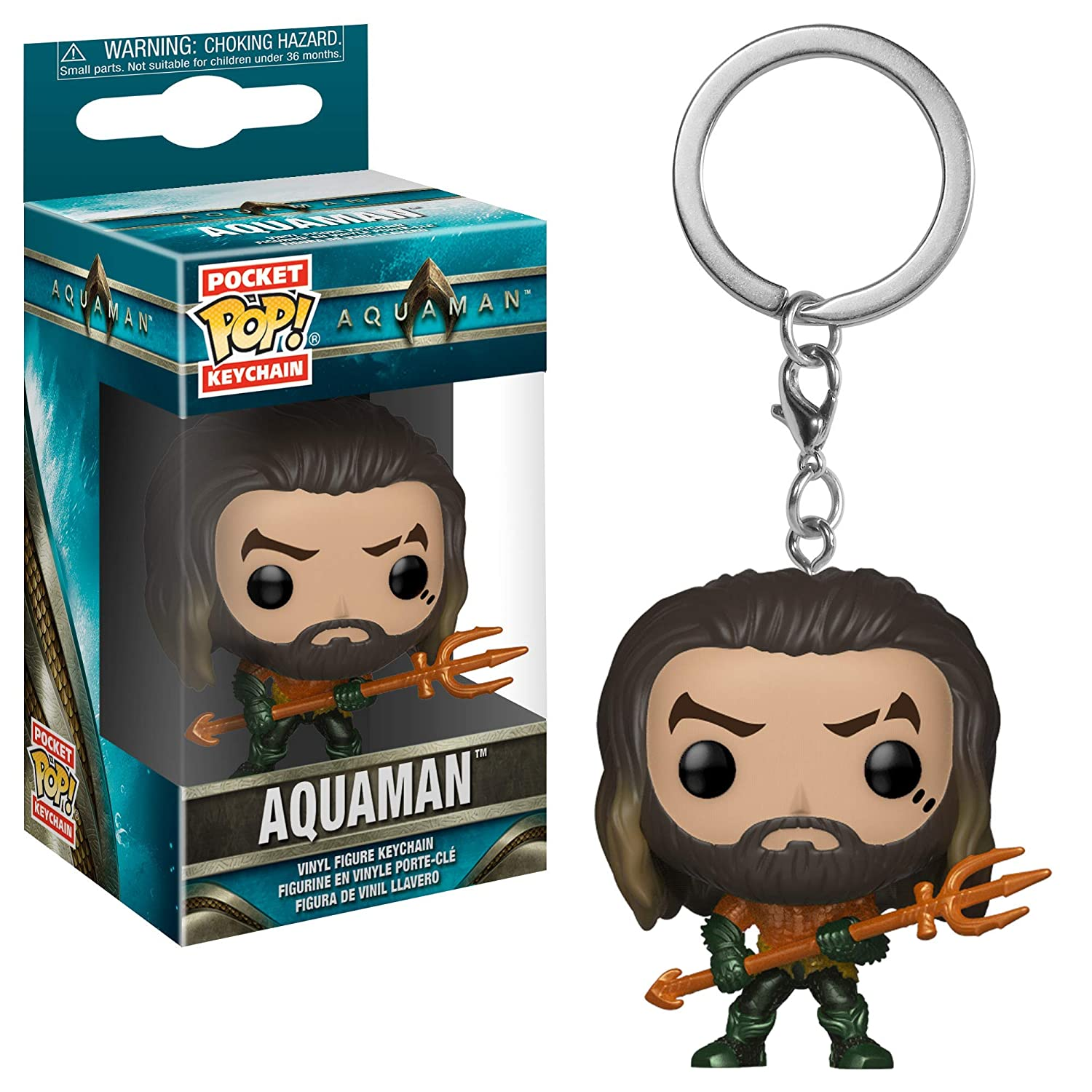Funko 31191 Pop Keychain: Aquaman Movie - Arthur Curry As Gladiator Collectible Figure, Multicolor
