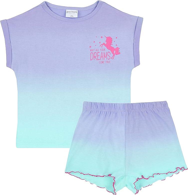 Metzuyan Pijama de verano con estampado de unicornio para niñas ...