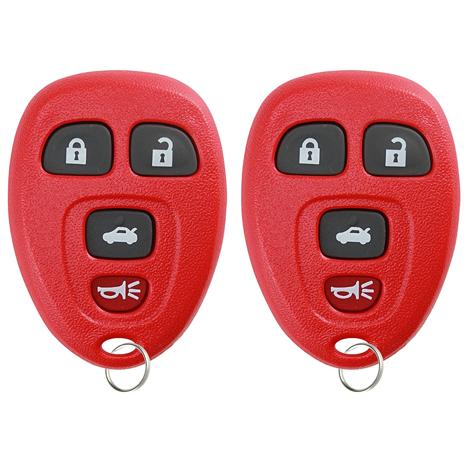KeylessOption Keyless Entry Remote Control Car Key Fob Replacement for 15252034 (Pack of 2) KPT2321