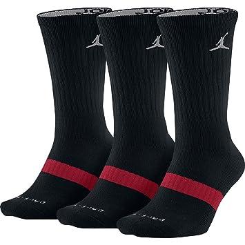Nike Jordan Drifit Crew 3PK - Calcetines Unisex, Color Negro/Plata, Talla M: Amazon.es: Zapatos y complementos