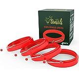 Moule à Oeuf Rond silicone / Moule Pancake. Boîte De 4 Moules ronds à Oeufs Anti-adhésifs Rouge par YumYum Utensils
