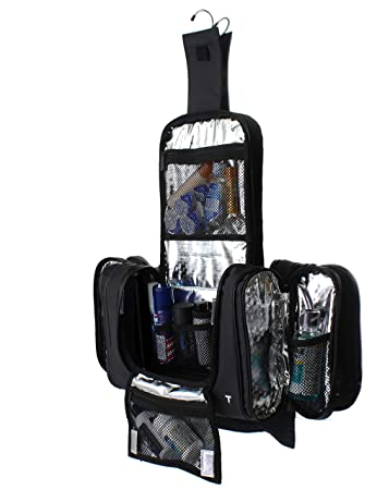 5b78d064bedc Amazon.com   Hanging Toiletry Bag w Built-in 4 Suction Cups
