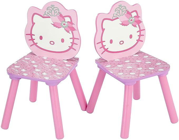 Delta TT 89449 - Conjunto de mesa y 2 sillas (60 x 60 cm), diseño de Hello Kitty: Amazon.es: Hogar