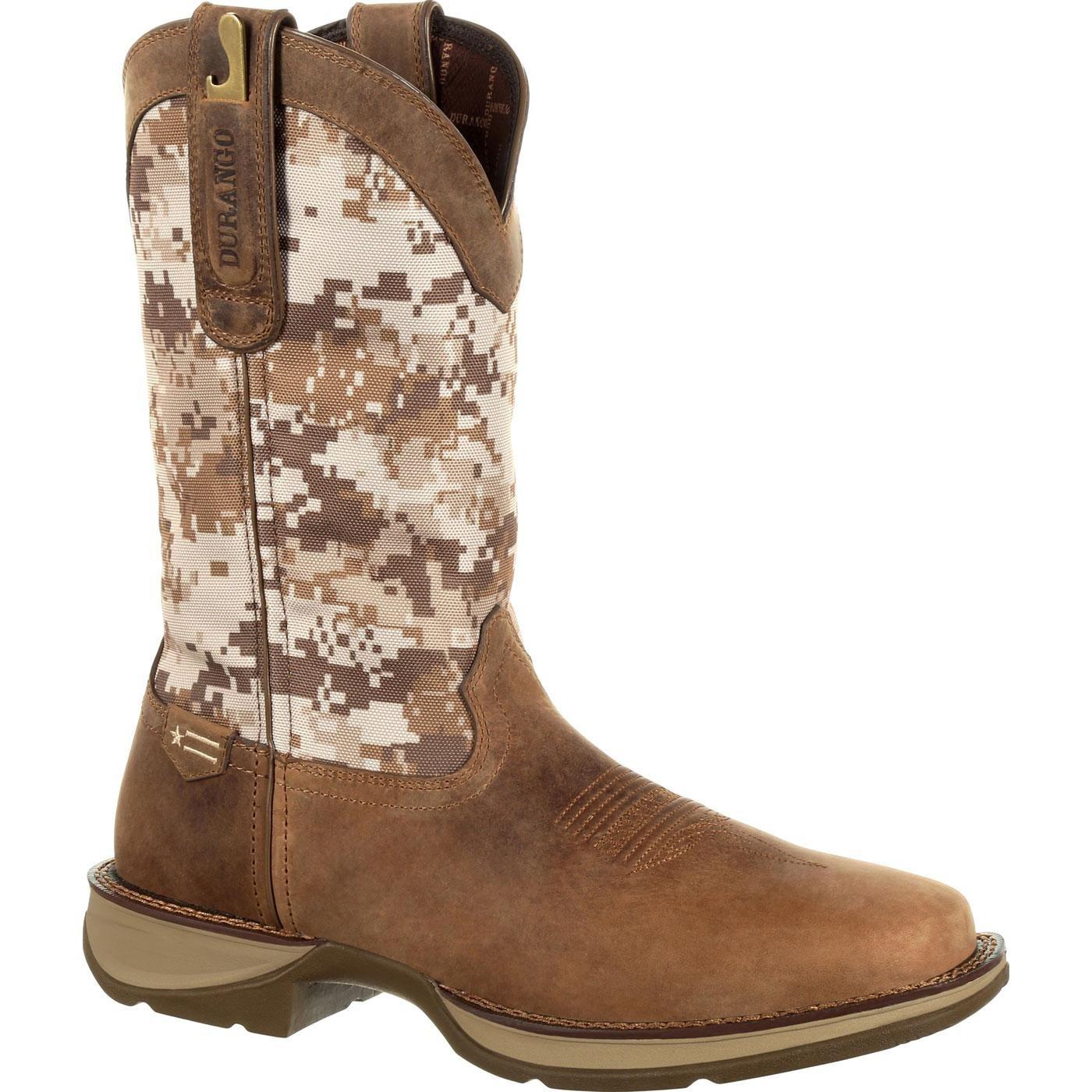 Durango Men's Rebel by Desert Camo Western Boot Square Toe - Ddb0166 ROCKY BRANDS INC