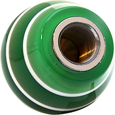 Black Brigadier General American Shifter 266348 Green Flame Metal Flake Shift Knob with M16 x 1.5 Insert
