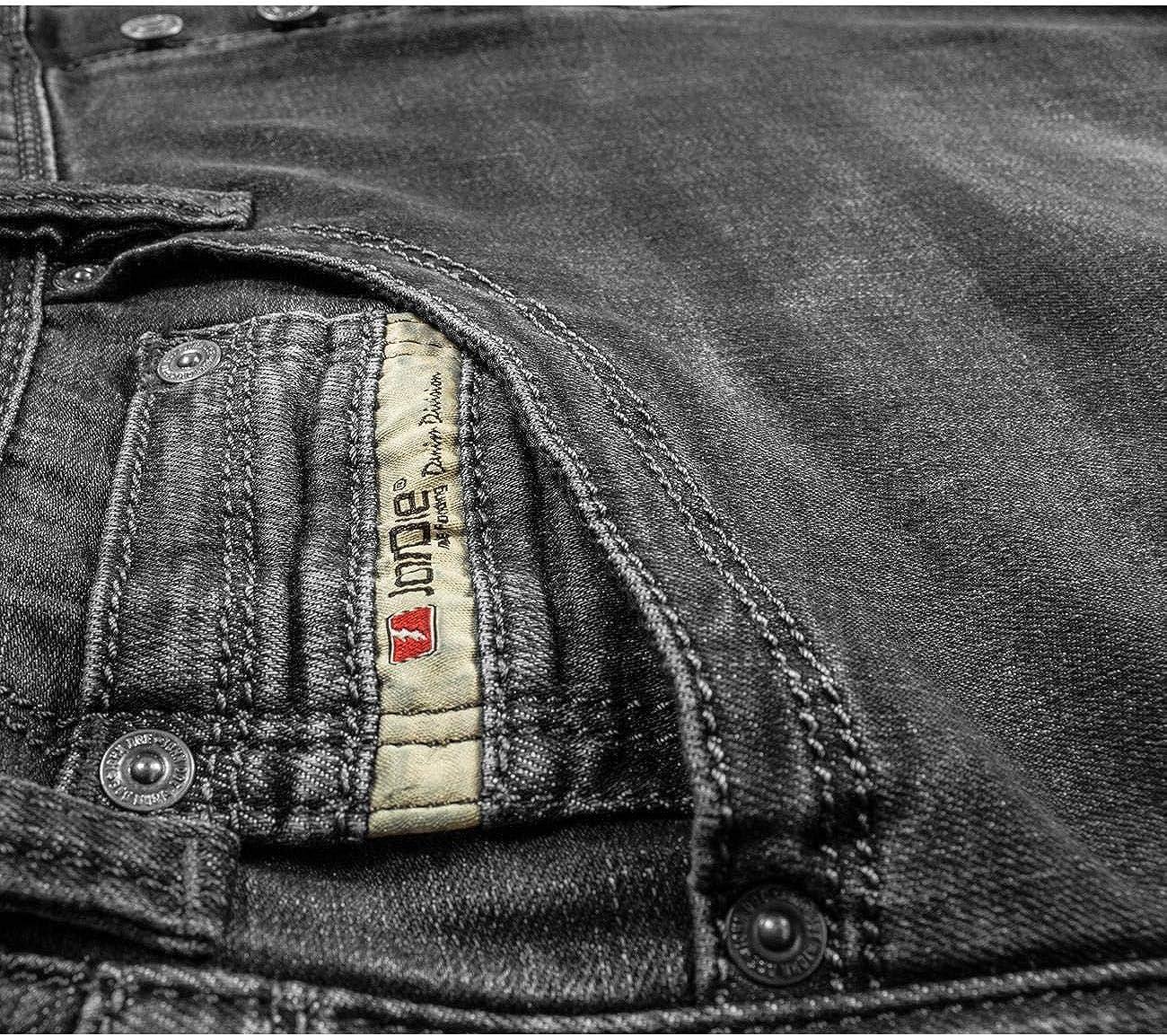 Atmungsaktiv John Doe Original XTM Denim Jeans mit Stretch Motorrad Jeans Motorradhose mit Kevlar Einsetzbare Protektoren