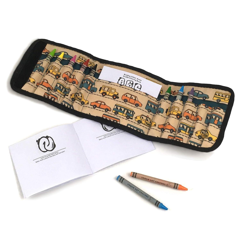 Urban Infant 1123 Budding Artist Crayon Set/Travel Wallet, Blue
