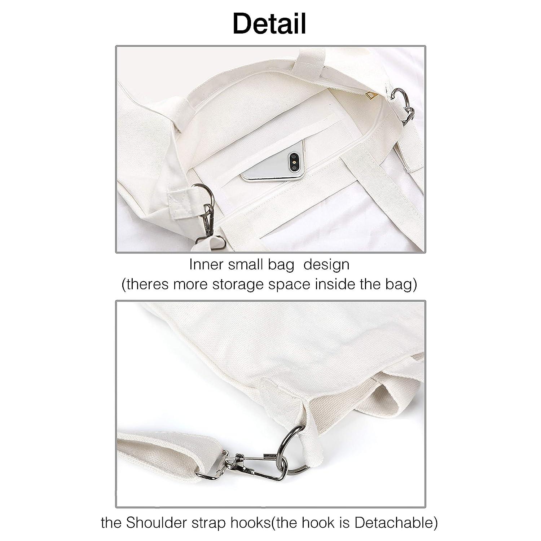 Canvas Tote Handbags Casual Crossbody Shoulder Bag Rock Band symbol Printed Unique Hobo bag For Women Ladies
