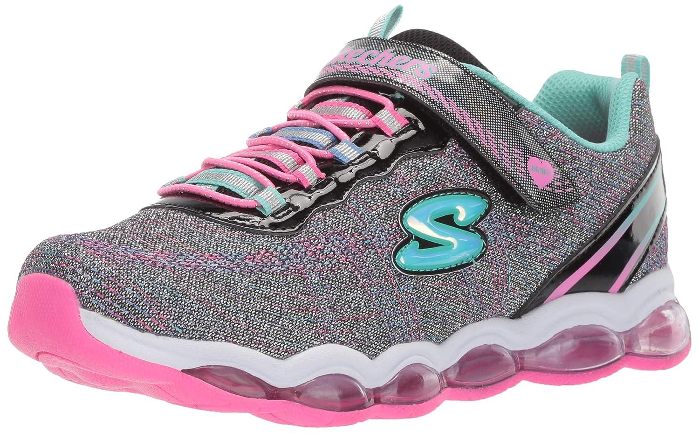 5 Black//Multi Skechers 10833L Girls S Lights Glimmer Lites Shoes