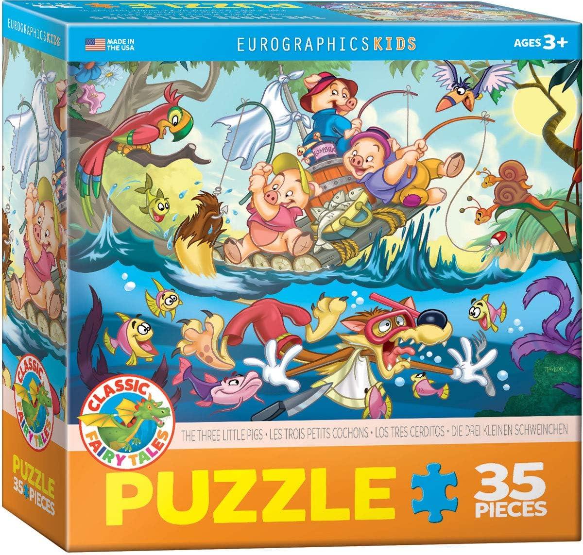 EuroGraphics - Rompecabezas Los Tres cerditos, 35 Piezas (EG60350423): Amazon.es: Juguetes y juegos
