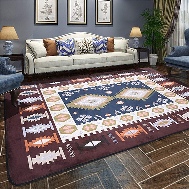 Alfombras for los dormitorios Sala de Estar Mesa de Comedor Alfombra Alfombra Antideslizante Durable (Color : Marrón, Talla : 190 * 280CM)