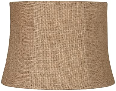 natural burlap medium drum lamp shade 12x14x10 spider