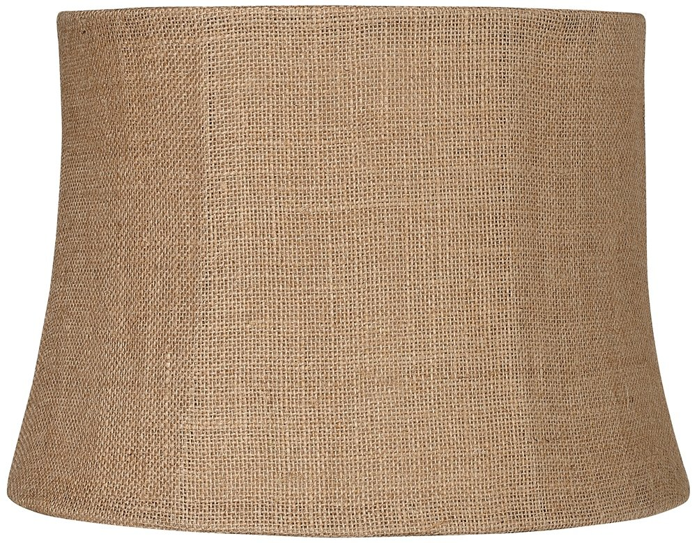Natural Burlap Medium Drum Lamp Shade 12x14x10 (Spider) by Brentwood