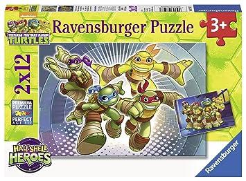Ravensburger Tortugas Ninja - Dos Rompecabezas de 24 Piezas ...