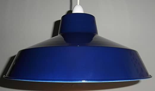 Pluto classic metal ceiling light shade navy blue amazon pluto classic metal ceiling light shade navy blue aloadofball Image collections