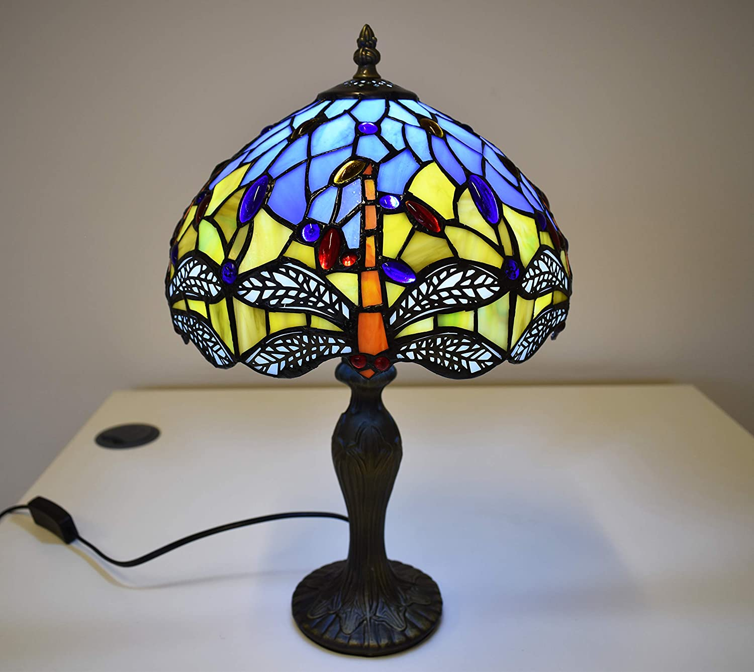 Tiffany Stained Glass Bedside Table