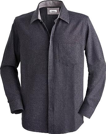 super popular ad44d 0f848 Henson&Henson Herren-Hemd in Anthrazit, Langarm-Hemd mit Reißverschluss,  Freizeit- & Businesshemd, Geschenk für Papa & Opa (Größe: 39 - 46)