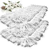 gizmop Mocio di Cotone Bianco 40cm, Cotone / poliestere, bianco, 40 cm
