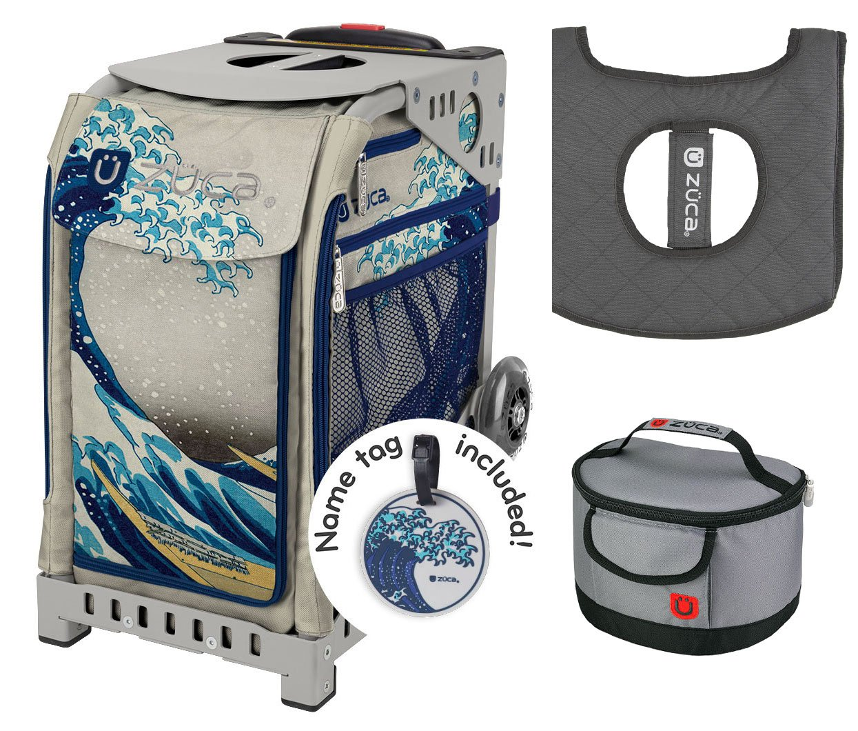Zuca Sport Bag - Great Wave with Gift Lunchbox and Seat Cover ( Frame) by ZUCA