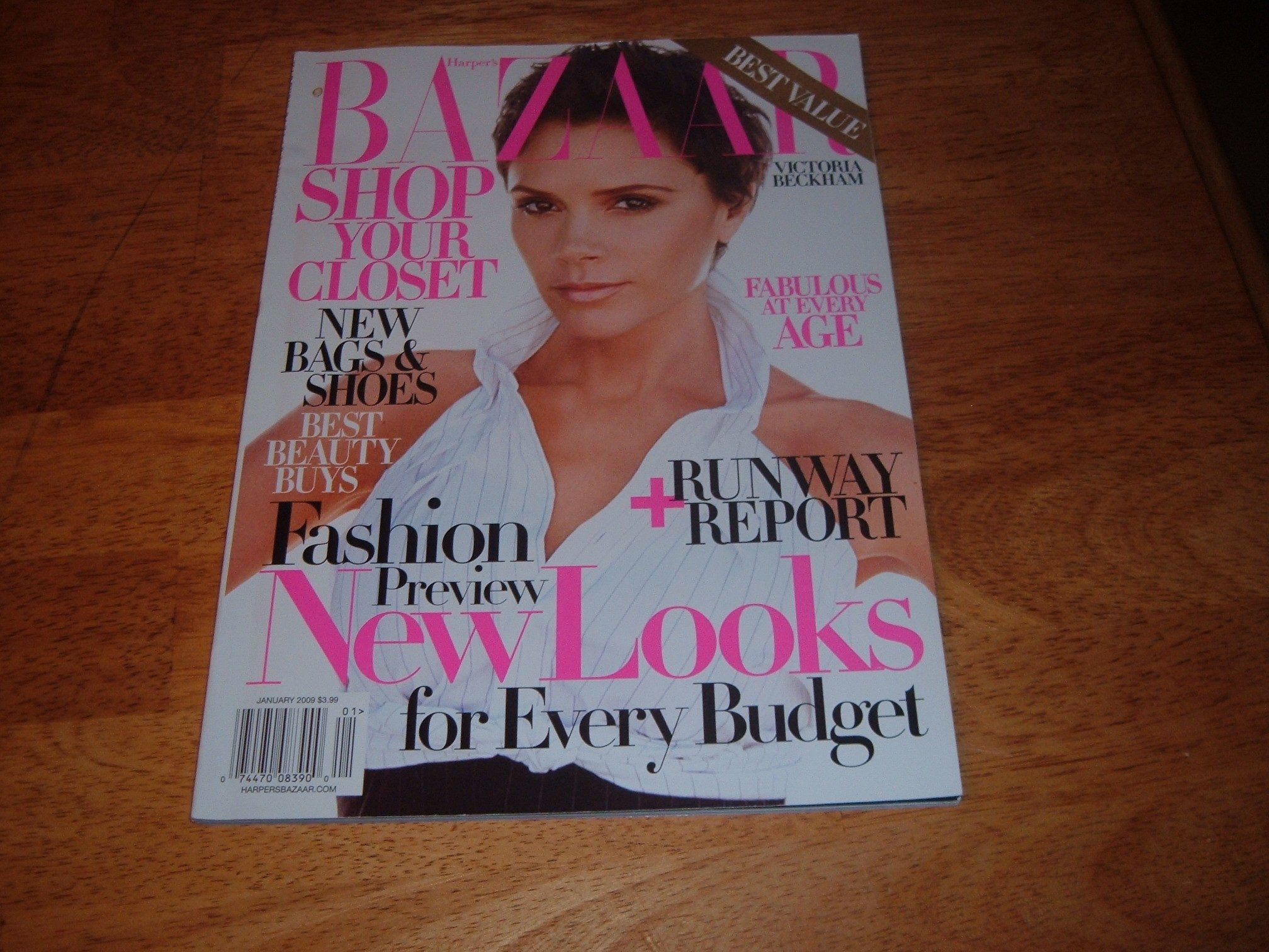 Harper's Bazaar magazine, January 2009-Victoria Beckham-Fashion Preview New Looks. ebook
