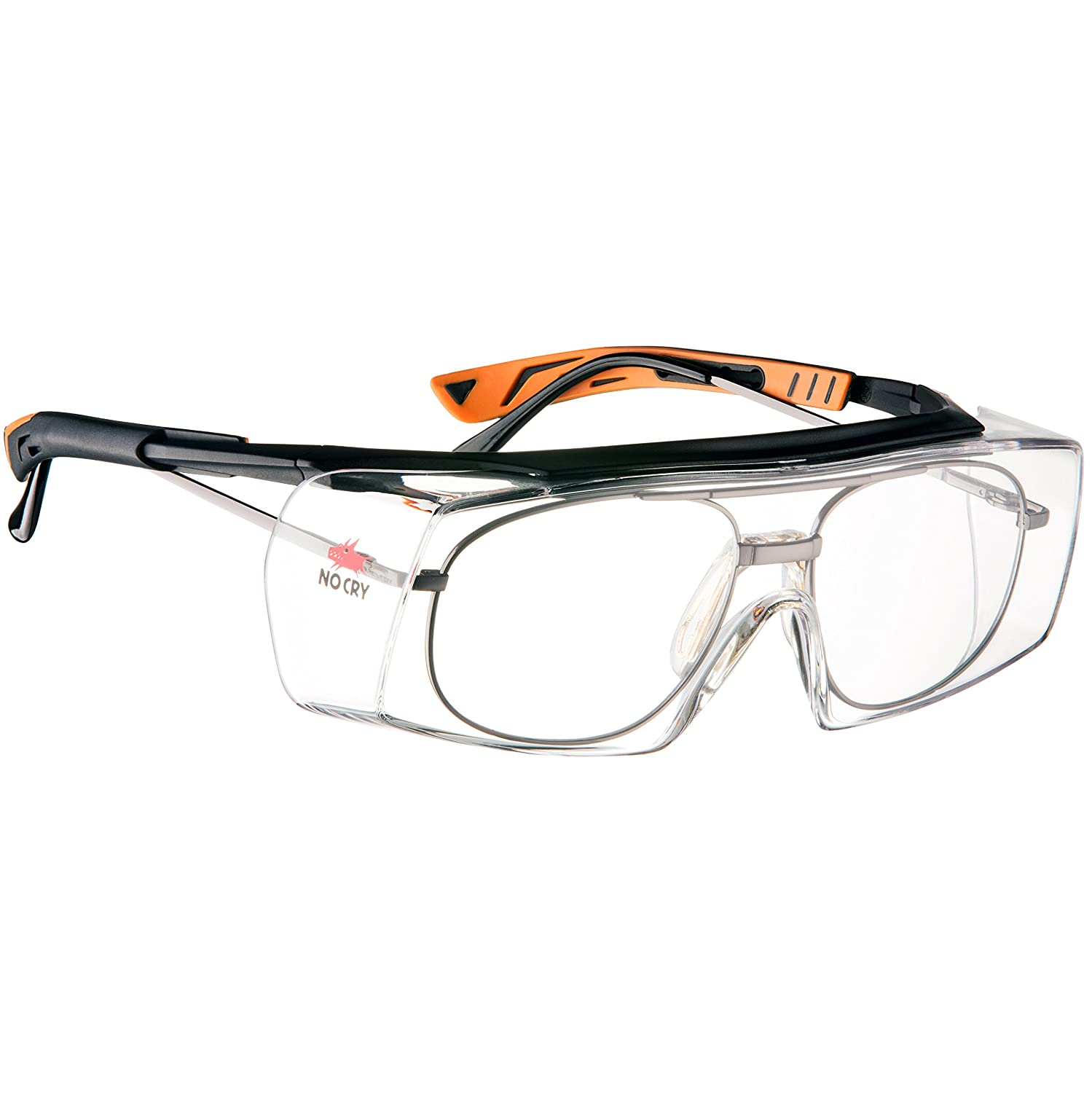 4c90b9e283 NoCry Over-Spec Safety Glasses with Anti Scratch Wrap-Around Lenses ...