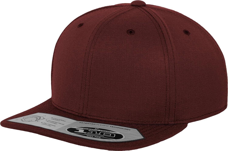 Flexfit 110 Fitted Snapback Unisex Kappe für Damen und Herren Baseball Cap mit Flachem Schirm
