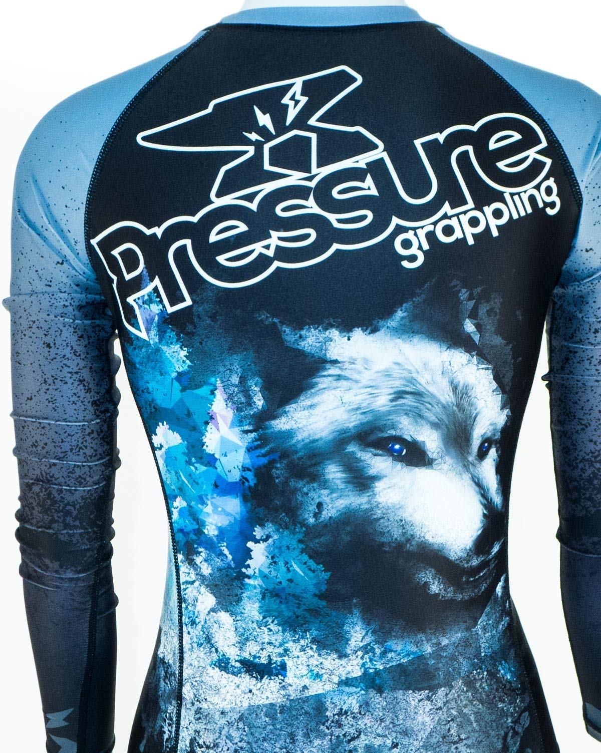 Pressure Grappling Women's Premium BJJ Long Sleeve Rash Guard with Lockdown Band (Volk, Extra Small) by Pressure Grappling