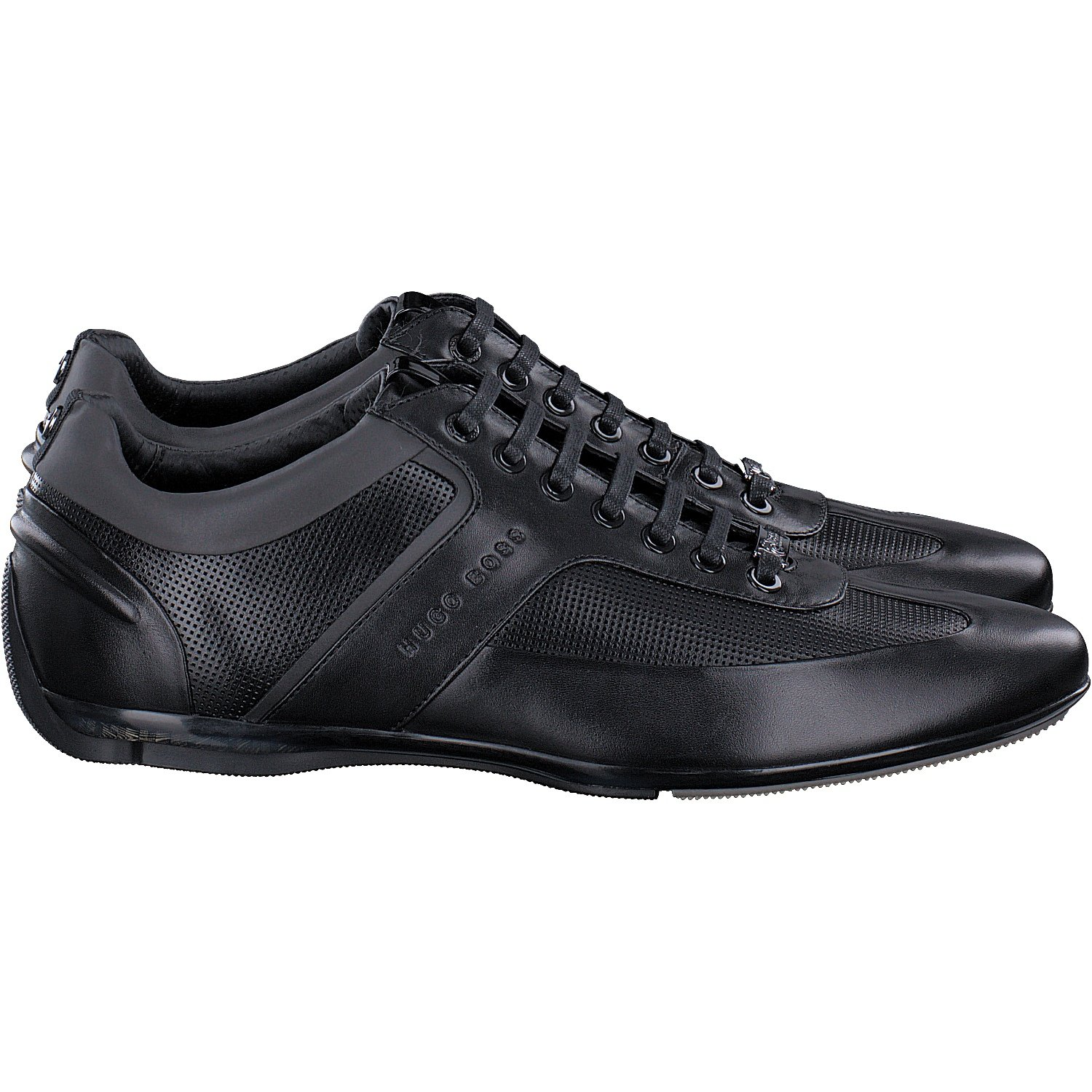 4e9761aaa BOSS Hugo Mercedes AMG Formula 1 F1 Black Leather Driving Trainers Sporty  Lowp MBPR 5 UK, 7 USA, 39 EU: Amazon.co.uk: Shoes & Bags