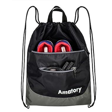 Drawstring Backpack String Bag Sackpack Sports Athletic Gym Sack Men Women Kids