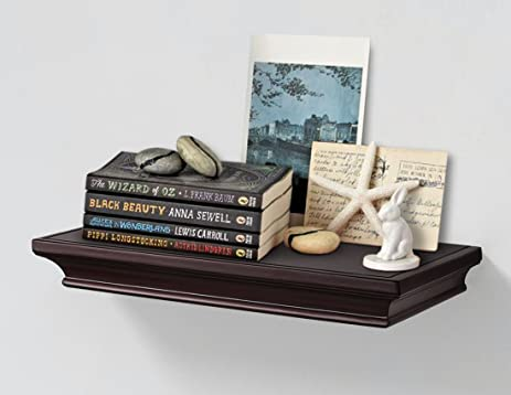 Traditional Multi Length Deep Floating Wall Shelves Display Ledge Shelf  Storage With Invisible Blanket (