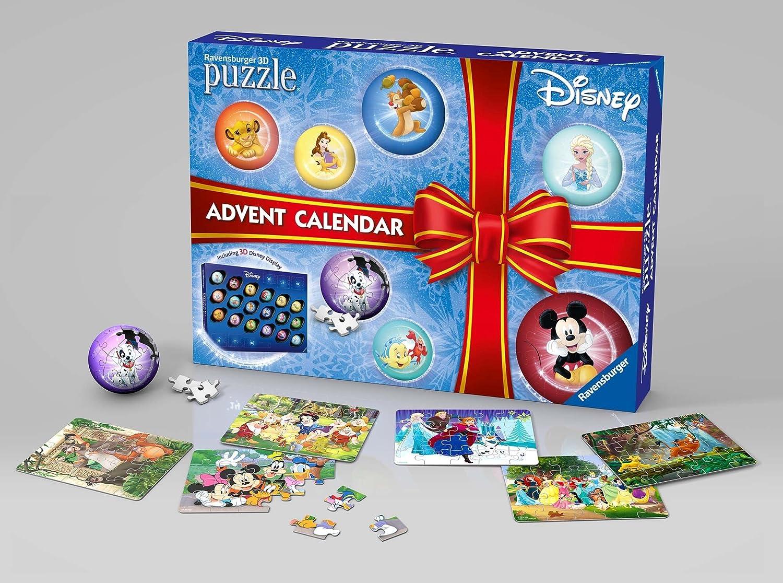 Ravensburger Italy 11676 Calendario dell'Avvento Disney Classic - Puzzle e Puzzle 3D