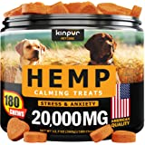 Hemp Dog Chews and Calming Treats for Dogs with Anxiety and Stress - Natural Calming Aid - Separation - Fireworks - Storms -