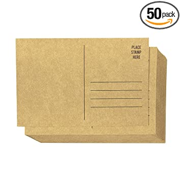 Amazon.com: Set de 50 marrón Kraft papel en blanco tarjetas ...