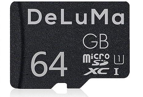 Deluma - Tarjeta de Memoria Micro SDHC DE 64 GB UHS-I Clase ...
