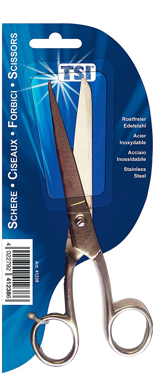 INOX Stainless Steel TSI Scissors for School, Office and Budget, Length 18 cm