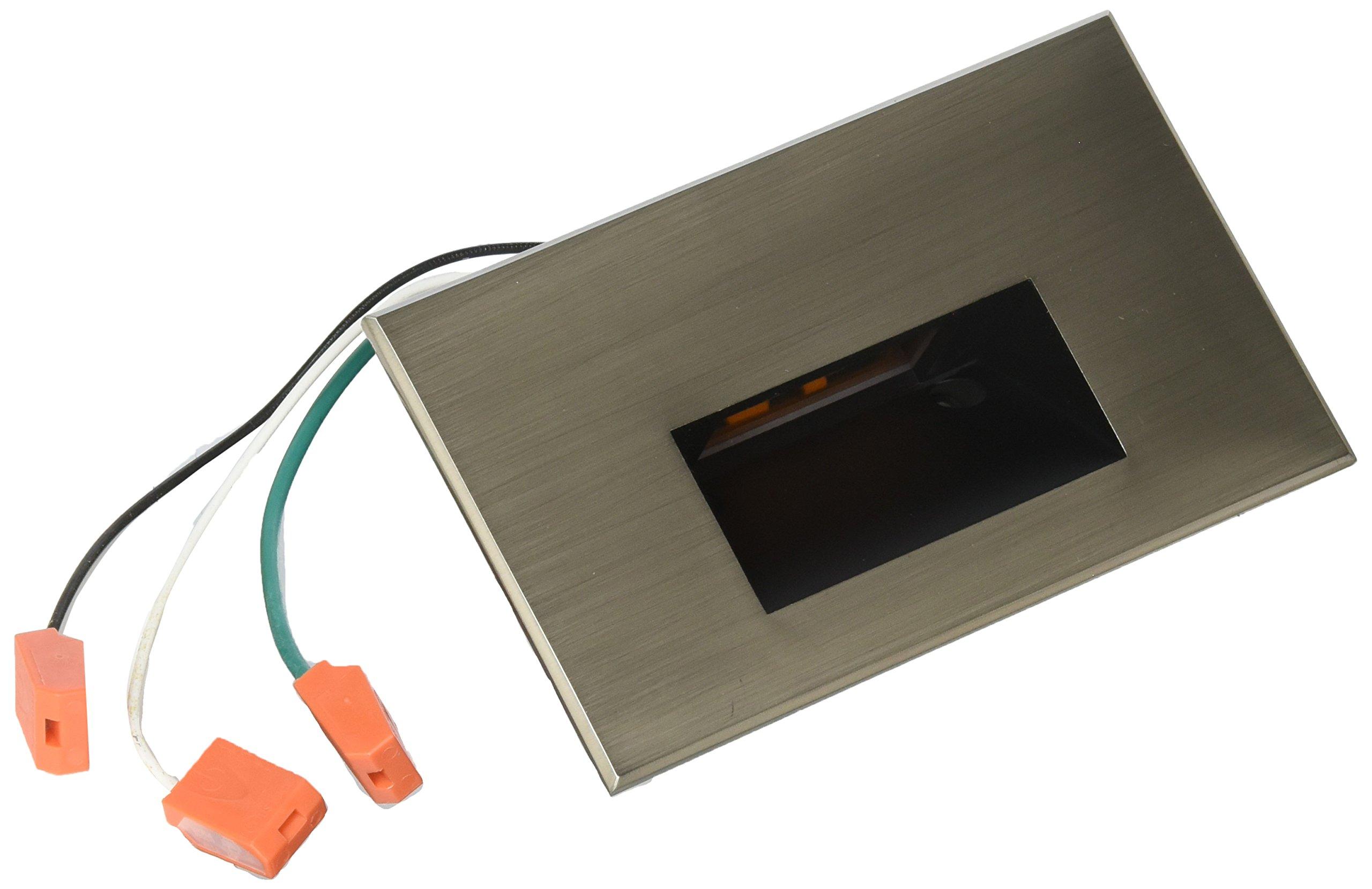WAC Lighting WL-LED100F-AM-BN 277V Horizontal Step Light with Amber