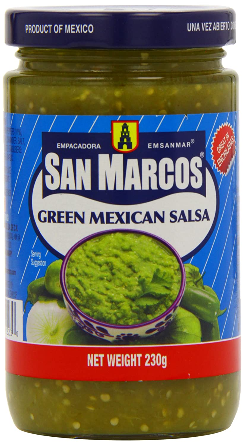 San Marcos Green Mexican Salsa 230 g (Pack of 6): Amazon.co.uk: Grocery