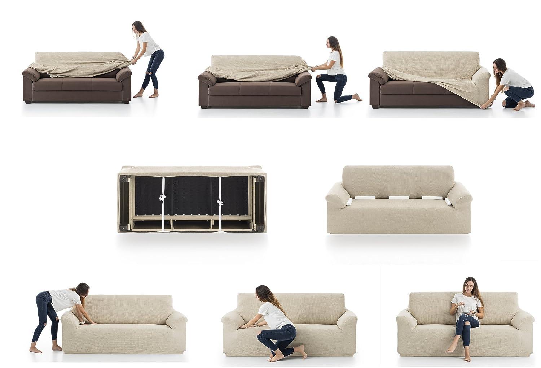 Belmarti Toronto - Funda sofa elástica Patternfit, 1 Plaza, color Lino