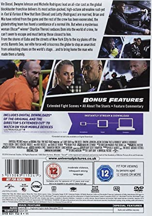Fast & Furious 8 DVD + digital download [2017]: Amazon co uk: Vin