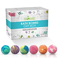 Sky Organics Large Bath Bombs Gift Set Assorted Scents Bath Bomb Kit Best for Moisturizing...