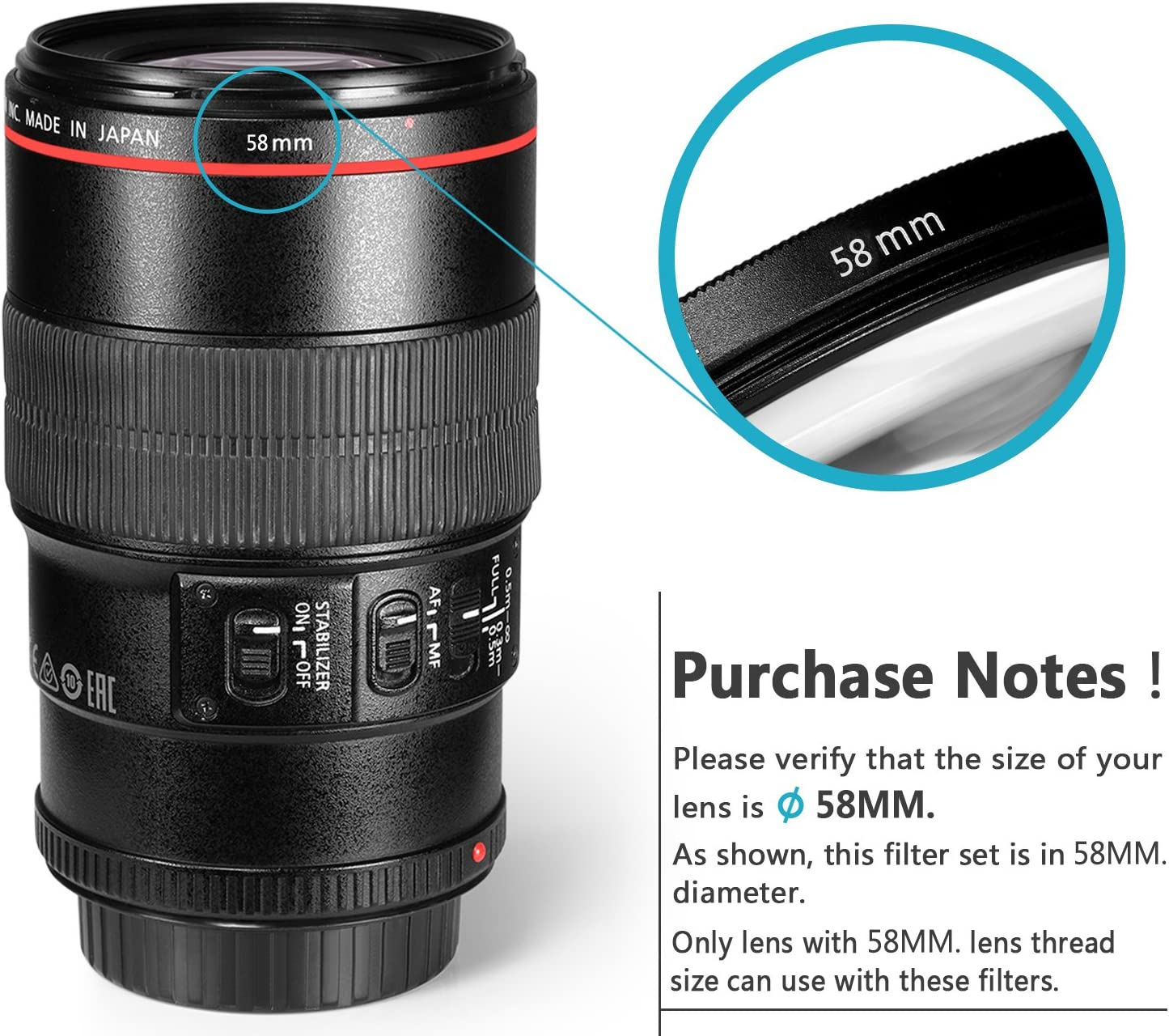 with Pouch for Canon EOS EF 24-105mm f//4 L IS USM Zoom Lens,Nikon 28-300mm f//3.5-5.6G ED VR II AF-S Zoom Lens UV+CPL+ND4 Neewer 77MM Lens Filter Kit