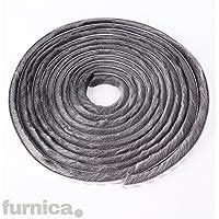 FURNICA Cepillo autoadhesivo para Puertas/Ventanas (Altura 15mm