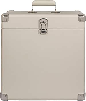 Crosley CR401-WS Record Carrier Case for 30+ Albums, White Sand