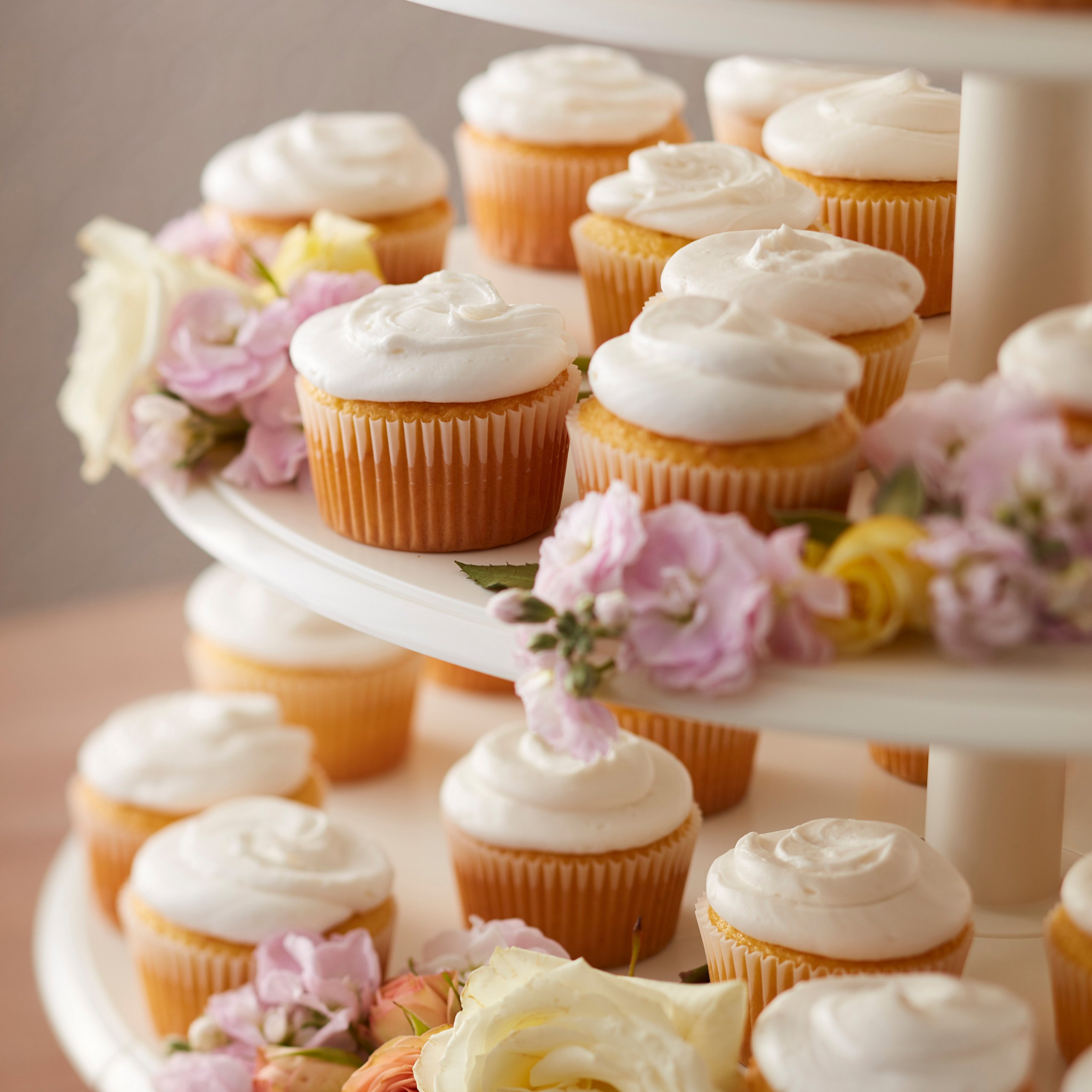 Wilton Towering Tiers Cupcake and Dessert Stand, Great for Displaying Cupcakes, Danishes and Your Favorite Hors d'Oeuvres, White, 3-foot, 28-Piece by Wilton (Image #9)